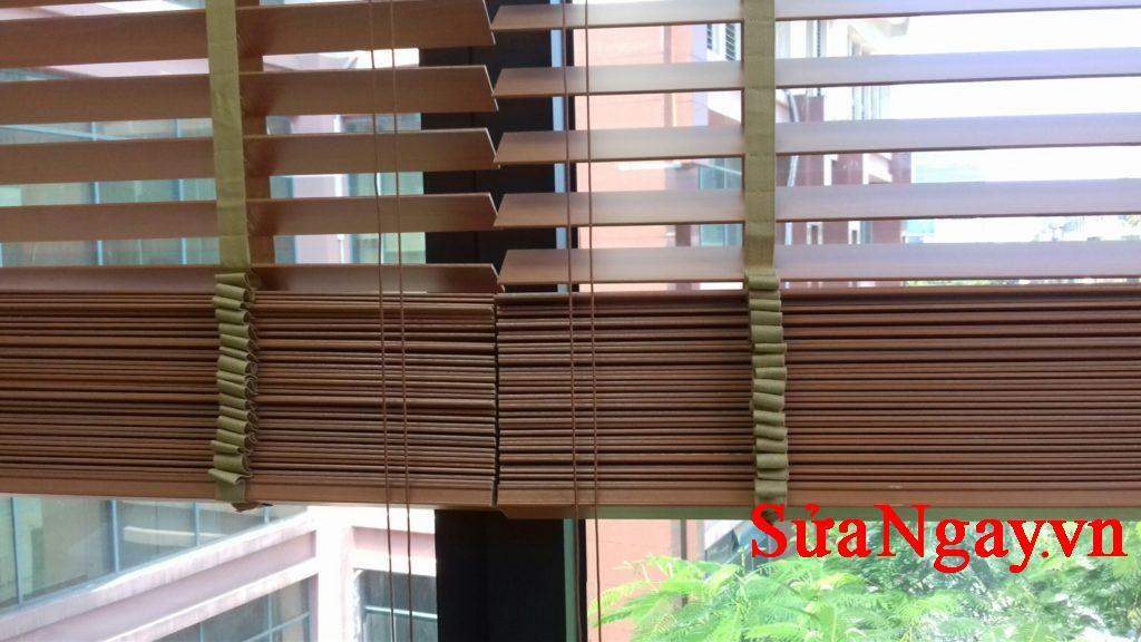 rèm gỗ công trình